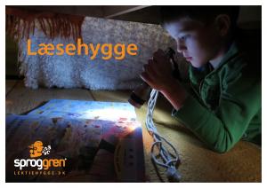Læsehygge - en gratis guide til forældre om læselyst og motivation fra Sproggren